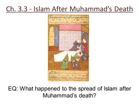 Ch Islam After Muhammad's Death