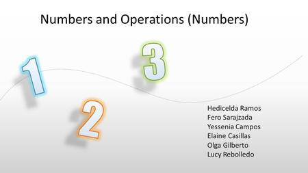 The animation is already done for you; just copy and paste the slide into your existing presentation. Numbers and Operations (Numbers) Hedicelda Ramos.