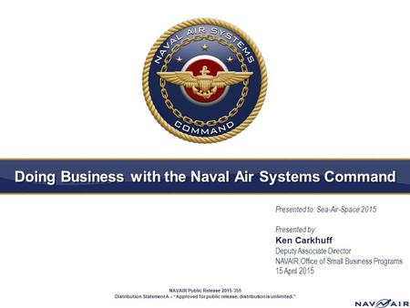 Doing Business with the Naval Air Systems Command
