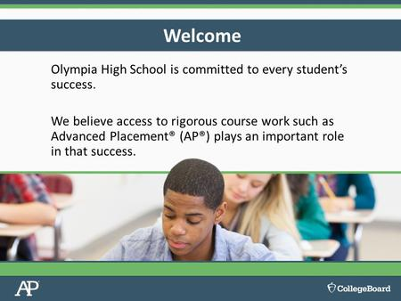 Olympia High School is committed to every student's success. We believe access to rigorous course work such as Advanced Placement® (AP®) plays an important.
