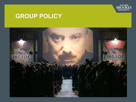 GROUP POLICY. Group Policy is a hierarchical infrastructure which allows systems administrators to configure computer and user settings from a central.