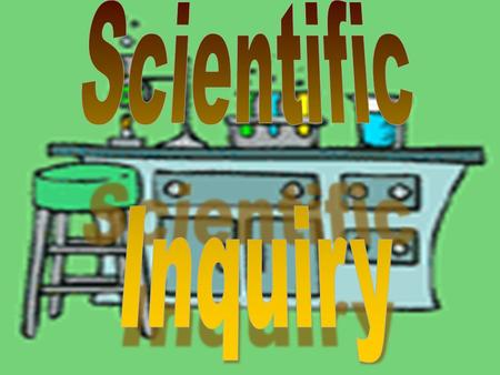 Scientific Inquiry is a process used to investigate a problem or question.