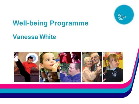 Well-being Programme Vanessa White. The Well-being programme Background  Board announcement March 2005  £165m, of which £45m committed to healthy eating.