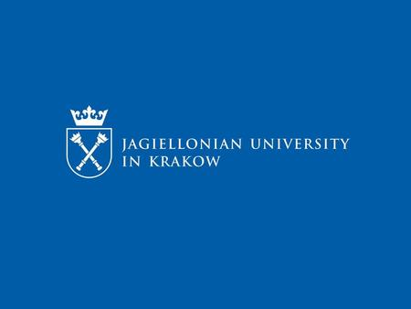Jagiellonian University - Towards Internationalization 30.01.2014, Nis Anna Stadnicka.