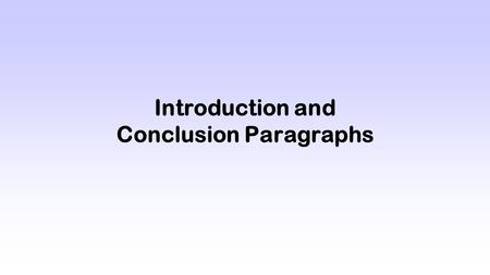 Introduction and Conclusion Paragraphs. Hook (H) The opening sentence of your essay; grabs the reader's attention and sets up what your paper will be.