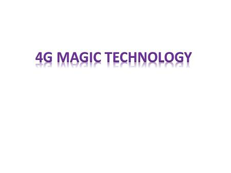 INTRODUCTION:- The approaching 4G (fourth generation) mobile communication systems are projected to solve still-remaining problems of 3G (third generation)