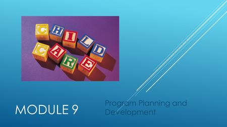 MODULE 9 Program Planning and Development HIERARCHY OF EARLY LEARNING  Introduction  This module will address mission statements, the Washington State.