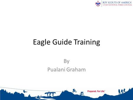 Eagle Guide Training By Pualani Graham. Eagle Guide Training What is an Eagle Guide (EG)? – Adult working with a Life Scout to help him understand the.