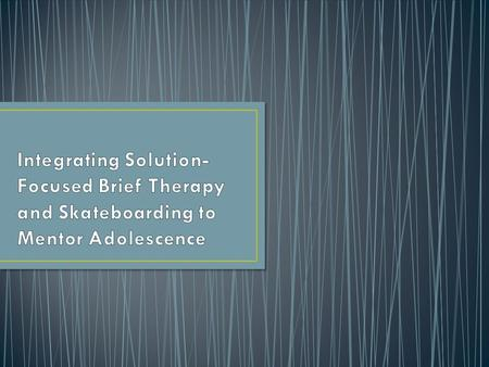 The following concepts related to Solution-Focused Brief Therapy are not my own. Solution Focused Brief Therapy was created roughly 30 years ago by Insoo.