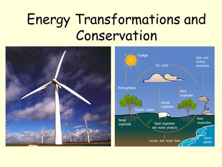 Energy Transformations and Conservation. Energy Transformations What does flowing water have to do with electricity? You may already know that the mechanical.