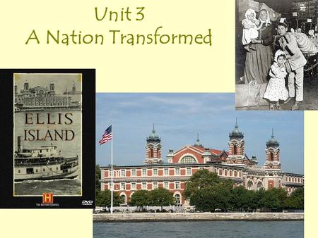 Unit 3 A Nation Transformed What is immigration? Immigration is the act of leaving one's homeland to live in another country, usually permanently.