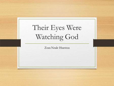 an analysis of janies marriage in their eyes were watching god by zora neale hurston