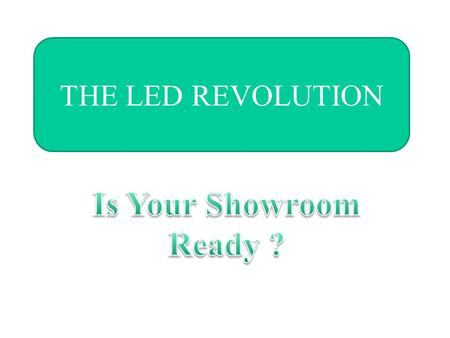 "THE LED REVOLUTION. The history of LED'S  1929 - Soviet patent granted for a "" light relay""  1961 - Modern LED invented at Texas Instruments."