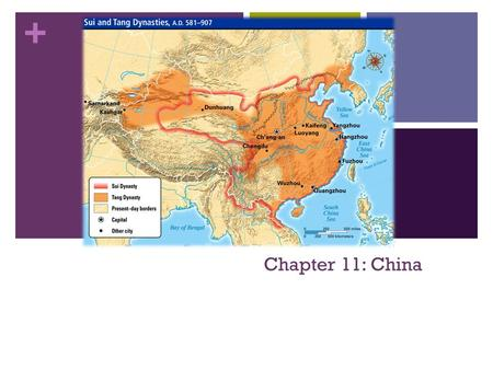 + Chapter 11: China. + Genghis Khan Created the largest land empire the world saw until the British empire Solidified his power by ordering the execution.