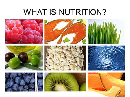 WHAT IS NUTRITION?. Nutrition is the Science of how your body uses food. Two aspects: Energy from food. Measured in calories. Energy = ability to do work.