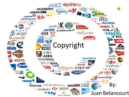 Copyright By: Juan Betancourt. Outline What are Copyrights? What can you Copyright? Ownership Protection Effect on the Public Permissions Copyright Example.