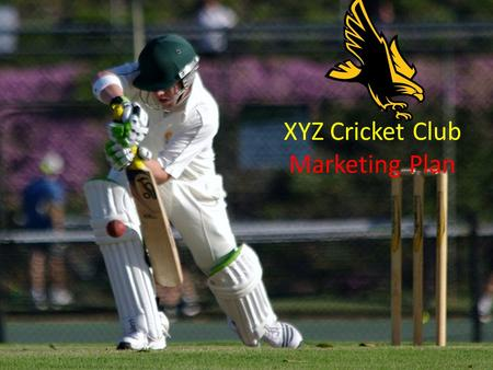 XYZ Cricket Club Marketing Plan. Executive Summary This is the overview of the marketing plan which serves as a summary for club executives and members.