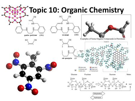 Topic 10: Organic Chemistry. SWBAT: Identify different classes of organic compounds Describe why organic chemistry is so important Use IUPAC naming conventions.
