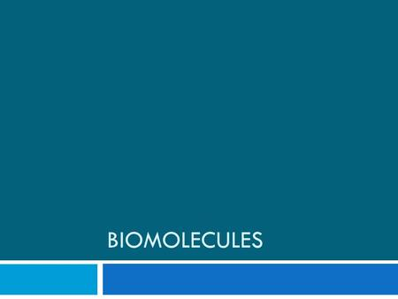 BIOMOLECULES. What's the difference??  The study of compounds that contain bonds between carbon atoms  The study of all other compounds Organic ChemistryInorganic.