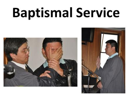 Baptismal Service. Greetings from a Pastor Exodus 14:21-22 21 Then Moses stretched out his hand over the sea; and the LORD caused the sea to go back.