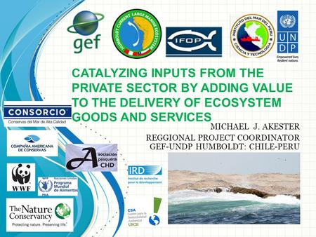 CATALYZING INPUTS FROM THE PRIVATE SECTOR BY ADDING VALUE TO THE DELIVERY OF ECOSYSTEM GOODS AND SERVICES MICHAEL J. AKESTER REGGIONAL PROJECT COORDINATOR.