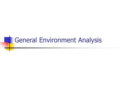 General Environment Analysis. Trouble at Amana In 1967, Amana introduced the first microwave, and gained 60% of the market. A decade later, its market.