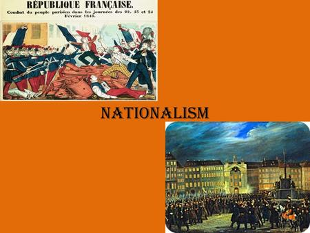 Nationalism. Europe in 1848 Reaction and Revolution After the French Revolution European leaders wanted to establish a more conservative order and maintain.