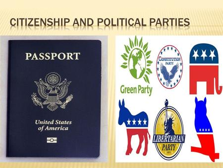  Citizenship: The rights and duties of a member of a certain country.  Rights:  Freedom of speech, religion, press; Equal justice, Right to own property,
