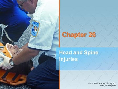 Chapter 26 Head and Spine Injuries. National EMS Education Standard Competencies (1 of 4) Trauma Applies fundamental knowledge to provide basic emergency.