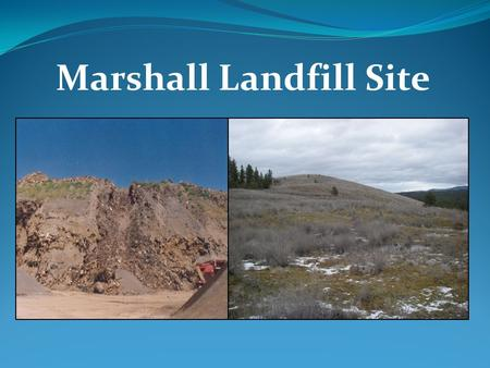 Marshall Landfill Site.  Patrick Cabbage, Hydrogeologist/Site Manager  Bill Fees, Engineer  Carol Bergin, Public Involvement Coordinator.