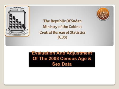 Evaluation And Adjustment Of The 2008 Census Age & Sex Data.