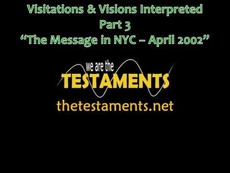 In the first two message we looked at the purpose as to why these visitations and visions occurred. Also, we talked about the setting and the background.