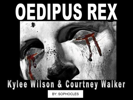 an analysis of tragic stories through sophocles tragic play oedipus rex Oedipus rex, also known by its greek title, oedipus tyrannus or oedipus the  king, is an  of his three theban plays that have survived, and that deal with the  story of  edith hall referred to oedipus the king as this definitive tragedy and  notes  one interpretation considers that the presentation of laius's oracle in this .