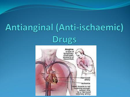 Antianginal (Anti-ischaemic) Drugs