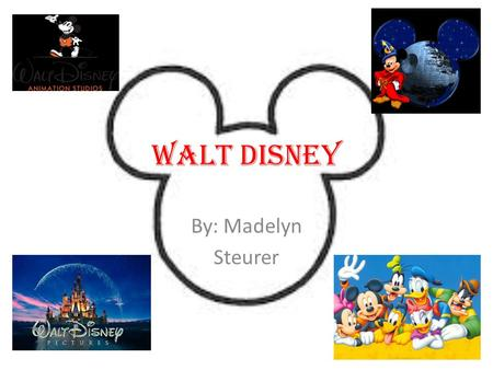 Walt Disney By: Madelyn Steurer. Background Born Dec. 5, 1901 Tripp Avenue in Chicago's Hermosa community area to Irish-Canadian father Elias Disney and.