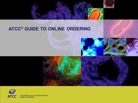 ATCC ® GUIDE TO ONLINE ORDERING. 2 Welcome to the new ATCC ® website We've integrated several new features to make online ordering easier for you and.
