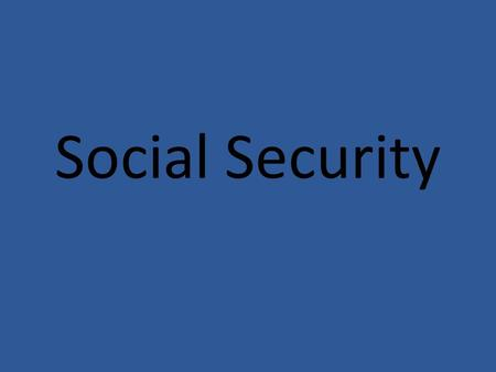 Social Security. Social security should be privatized (not to be confused with private savings accounts, but rather, private investments). Social security.