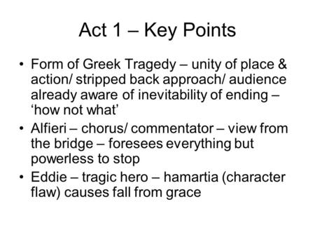 an analysis of the tragic elements of a view from the bridge a play by arthur miller 2018-8-16 what is a contemporary play a:  what are some elements in the plot of the play tartuffe a:  what is oedipus' tragic flaw q: how was arthur miller.