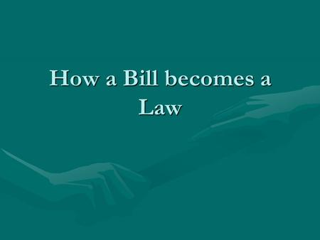 How a Bill becomes a Law. Starter Who is the leader of senate?Who is the leader of senate?