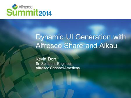 Dynamic UI Generation with Alfresco Share and Aikau