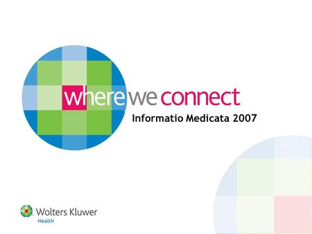 Informatio Medicata 2007. Agenda The Unique Solution on One Platform OVID|SP – the new platform.