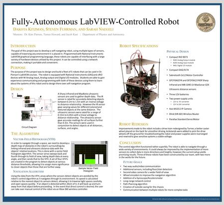 We thank the Office of Research and Sponsored Programs for supporting this research, and Learning & Technology Services for printing this poster. Fully-Autonomous.
