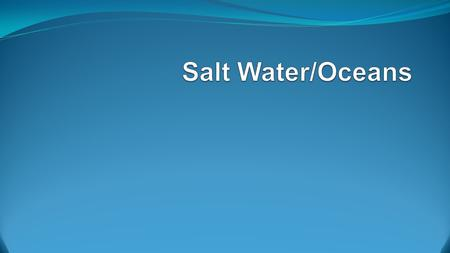 Salinity Salinity is the total amount of solid material dissolved in water. Because the proportion of dissolved substances in seawater is such a small.