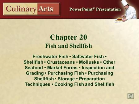 Chapter 20 Fish and Shellfish