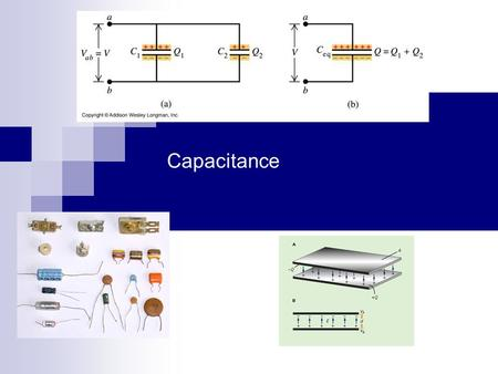 Capacitance Chapter 25. Capacitance A capacitor consists of two isolated conductors (the plates) with charges +q and -q. Its capacitance C is defined.