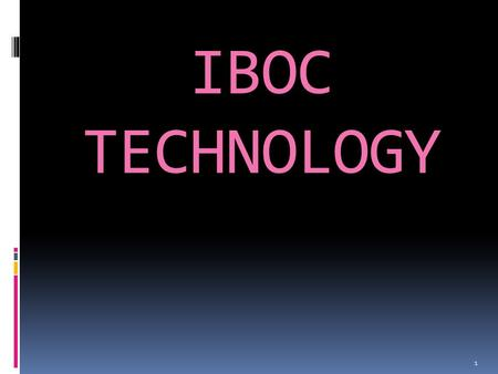 IBOC TECHNOLOGY 1. CONTENTS  Introduction  Why Digital Radio?  What is IBOC  Block diagram  IBOC modes of operation  IBOC implementation Techniques.