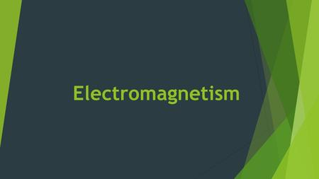 Electromagnetism.  A moving charge creates a magnetic field  Electric current (I) is moving electrons, so a current-carrying wire creates a magnetic.
