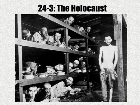 24-3: The Holocaust. 1933: Thousands of Jews leave Germany Why didn't France and Britain accept as many German Jews as they might have? France and Britain.