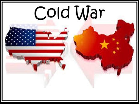 Cold War. Origins of the Cold War Even before the end of World War II, tensions were building between the United States and the Soviet Union Socialist.