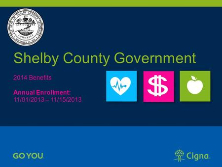 Shelby County Government 2014 Benefits Annual Enrollment: 11/01/2013 – 11/15/2013.